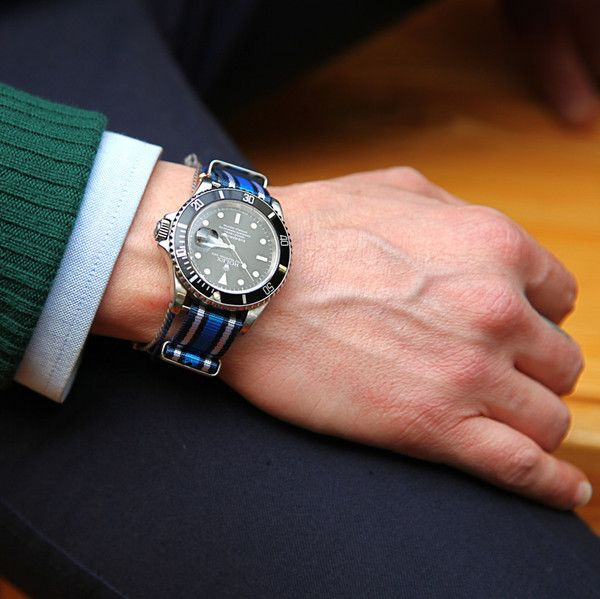 I need this strap for my Rolex but I don't know where to buy it!Straps Inspiration, Rolex Watches, Nato Straps, Uniforms Experiments, Men Fashion, Accessories, Colton Stuff, Nato Watches, Watches Straps