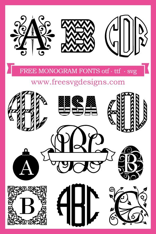 Free Fonts at Our FREE monogram