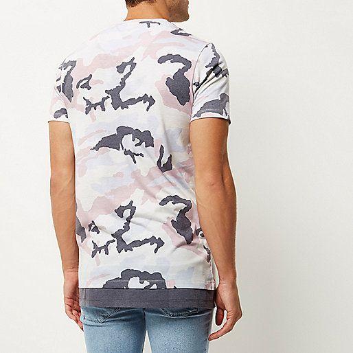 Pink camo longline T-shirt - print t-shirts - t-shirts / tanks - men