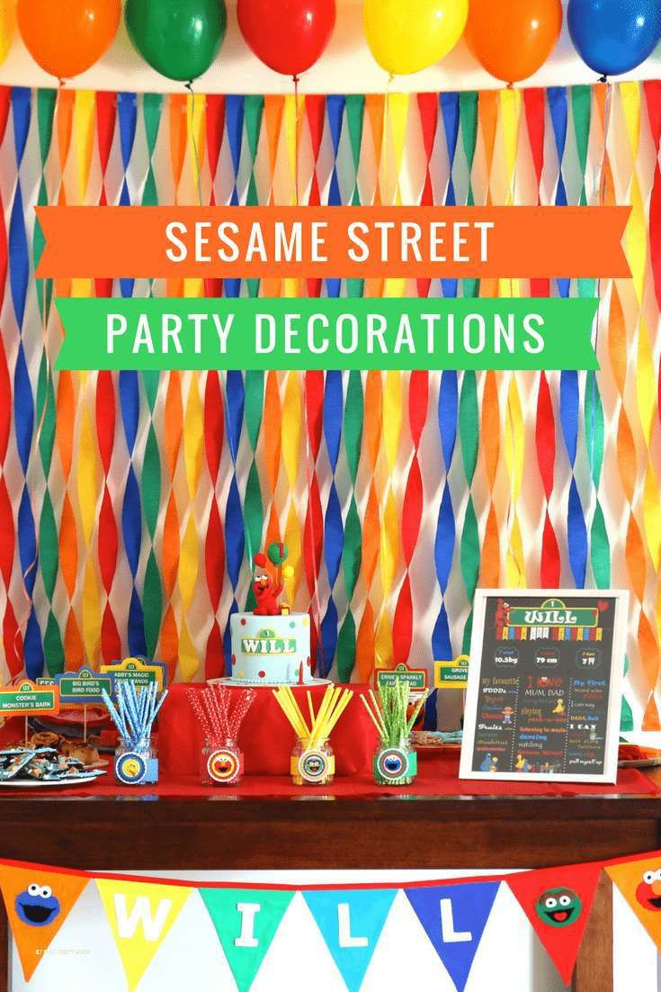 Planning A Sesame Street Party Decorations Food Cake