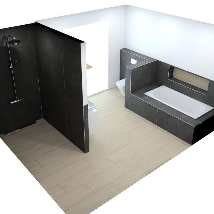 [New] The 10 Best Home Decor (with Pictures) –  Badezimmerplanung im Hauptbad….. Die Fliesen sehen in der Animation etwas dunkler aus als sie eigent…