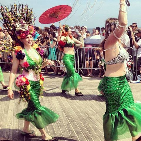 Who says mermaids aren't real? Thousands of beautiful creatures from all walks of life gathered for the #ConeyIsland #MermaidParade this past weekend, as captured by #meatrack. #Brooklyn #IGoftheDay #BrooklynBowl  #concerts #NYC #livemusic #bowlstagram #todaysbestIG