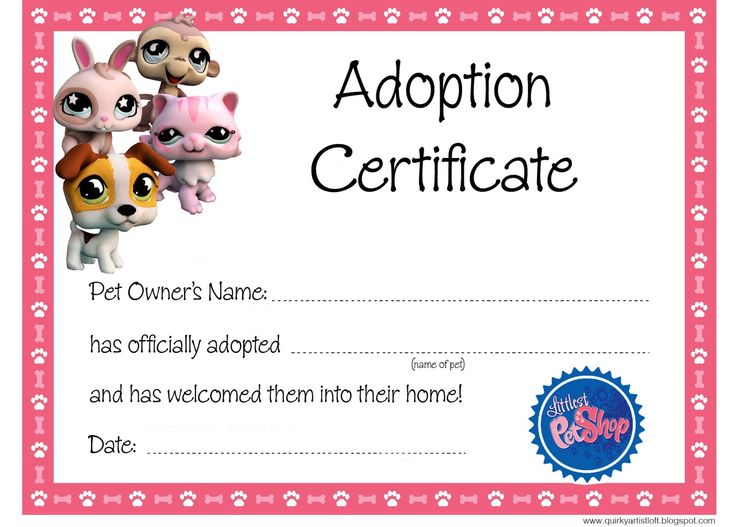Best 25+ Adoption certificate ideas on Pinterest Paw patrol - happy birthday certificate templates