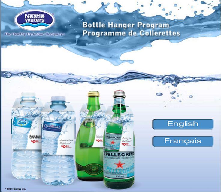 #NestleWaters Hotel Bottle Hanger Order Web Site #B2B