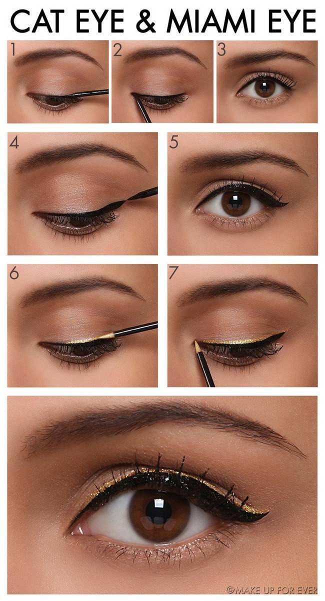 Eyeliner Ideas and Step by Step Tutorials | Planet of Women- Health, Fashion & Beauty  #tuto #makeup #maquillage #laboutiqueduparfum #boutiqueparfum #beaute #beauty #step