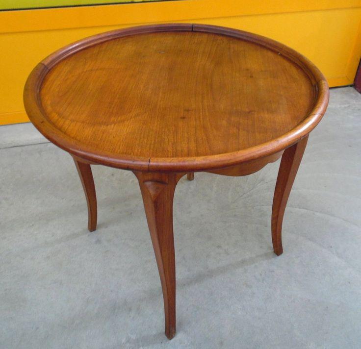 Tavolino da salotto provenzale in ciliegio primo '900 diametro 55 cm