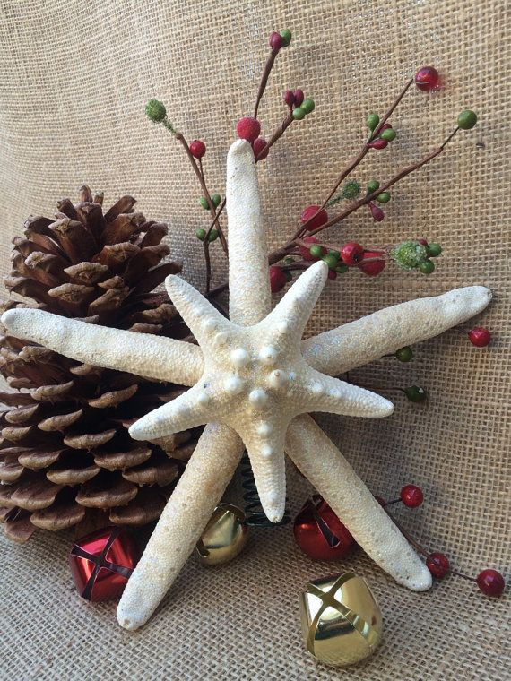 Hey, I found this really awesome Etsy listing at https://www.etsy.com/listing/208394042/double-starfish-tree-topper-with-skinny