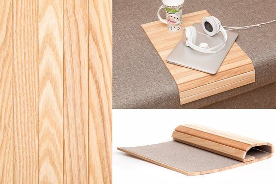 Sofa Tray Table Natural Sofa Arm Tray Unique Gift Idea Etsy Natural Sofas Wooden Coffee Table Wood End Tables