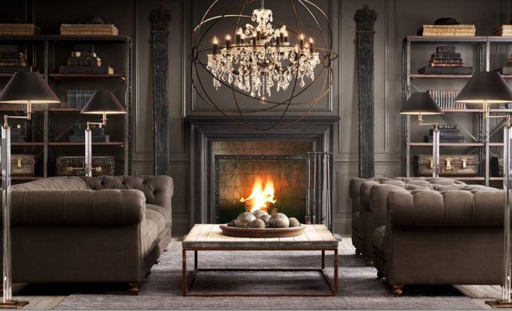 Dark Living Room Design Ideas