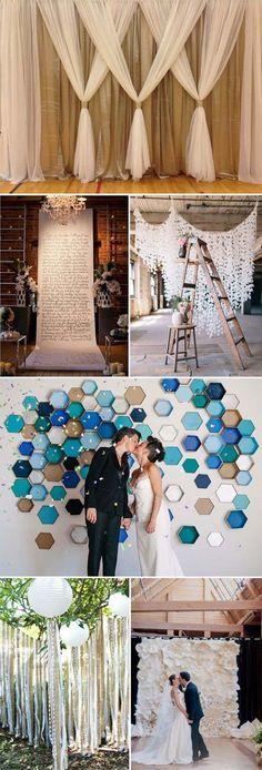 Personaliza tu boda con estas ideas de cortinas de papel.                                                                                                                                                                                 Más