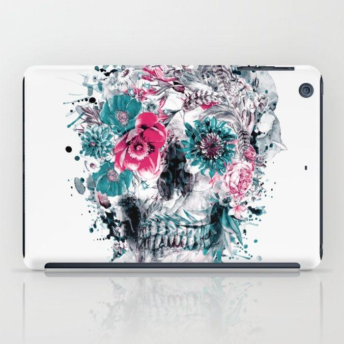 MOMENTO MORI IX iPad Case #skull #flowers #collage #abstract #colors #digitalart