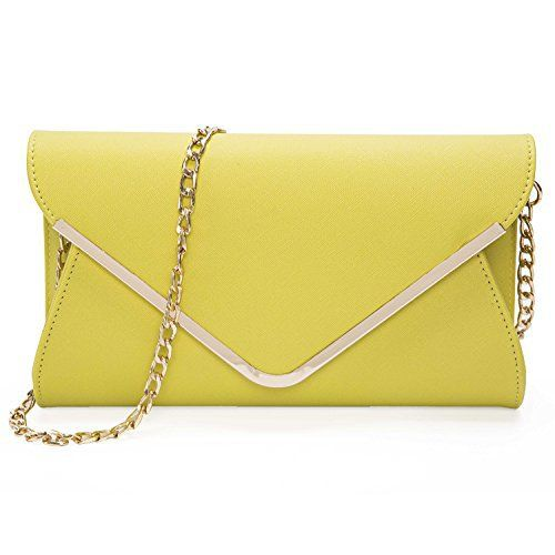 New Trending Shoulder Bags: Chichitop Leather Evening Envelope Clutches Bag with Drop-in Chain Shoulder Strap for Women 2016 New Handbags Shoulder Bags,Yellow. Chichitop Leather Evening Envelope Clutches Bag with Drop-in Chain Shoulder Strap for Women 2016 New Handbags Shoulder Bags,Yellow   Special Offer: $27.99      155 Reviews Features:Size: appr. 7.87″(L) * 1.96″(W) * 6.30″(H)Material: PU leather,polyester liningClosure type:...