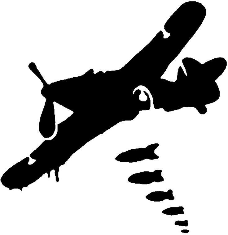 Dropping Bombs Stencil Template Stencil Templates