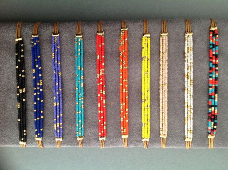 bracelet plaqué or et miyuki : Bracelet par goldie