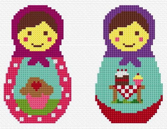 Free Matryoshka Cross Stitch Chart Pattern