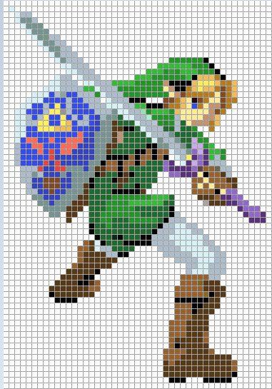 Link Cross Stitch Pattern *colored version* by Jormel.deviantart.com on @deviantART