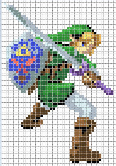 Link Cross Stitch Pattern *colored version* by Jormel.deviantart.com on @deviantART