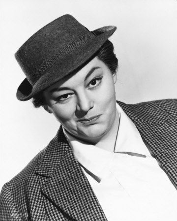 Hattie Jacques (via allposters) proving you can't go wrong with tweed and a good hat.