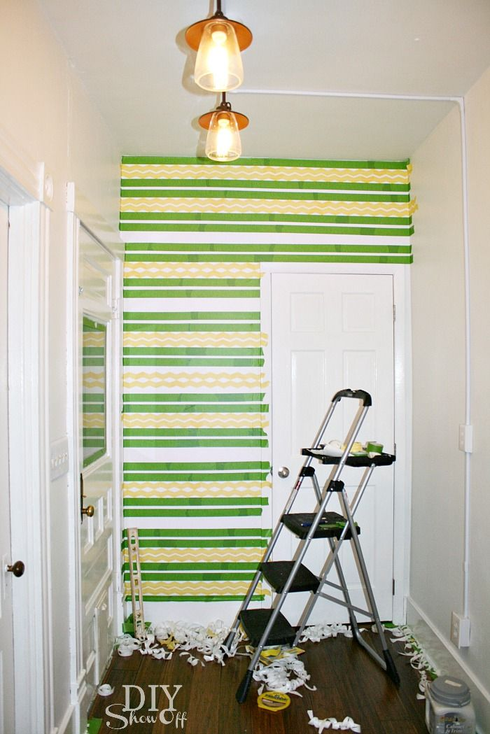 FrogTape chevron Shape Tape accent wall