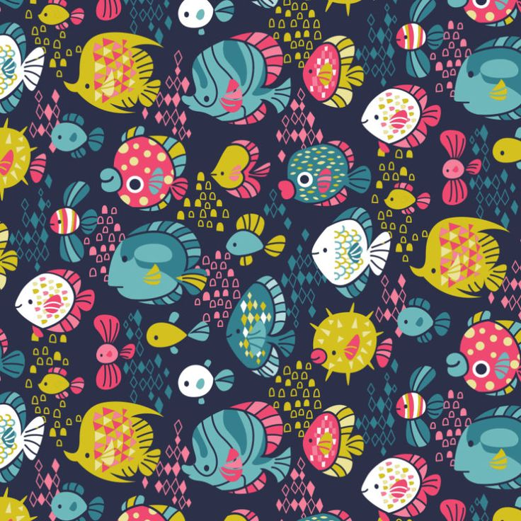 Cute Fish Pattern | Licensing | Drawn to better | Astound.us