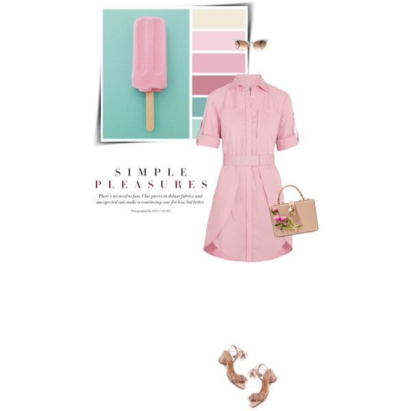 Easy Peasy: Throw-and-Go Dresses by sophiek82 on Polyvore featuring Halston Heritage, Aquazzura, Dolce&Gabbana and Gucci