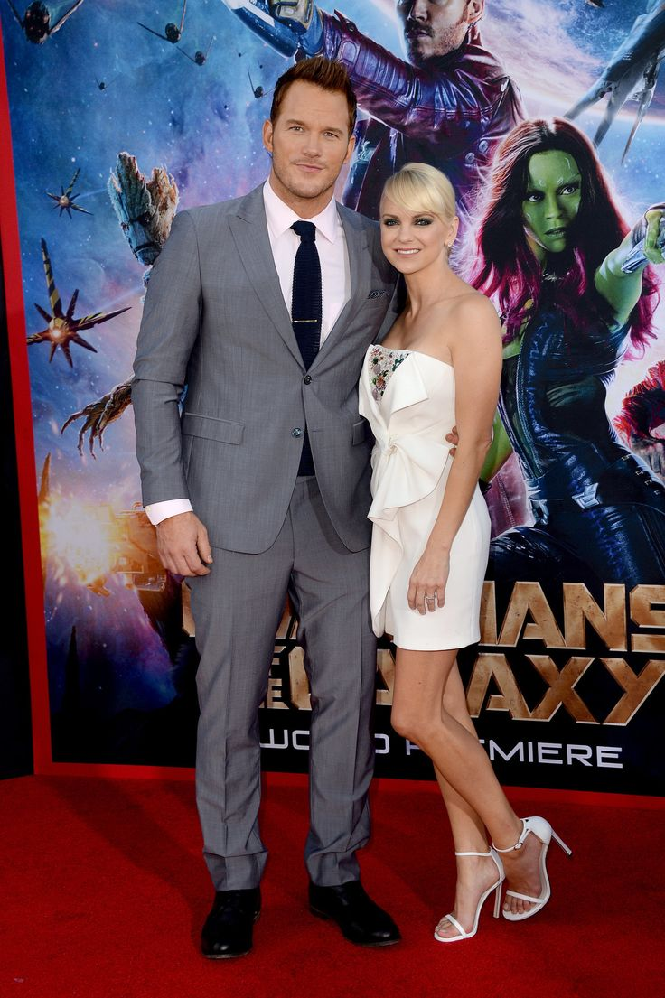 Chris Pratt and Anna Faris at the Guardians of the Galaxy premiere