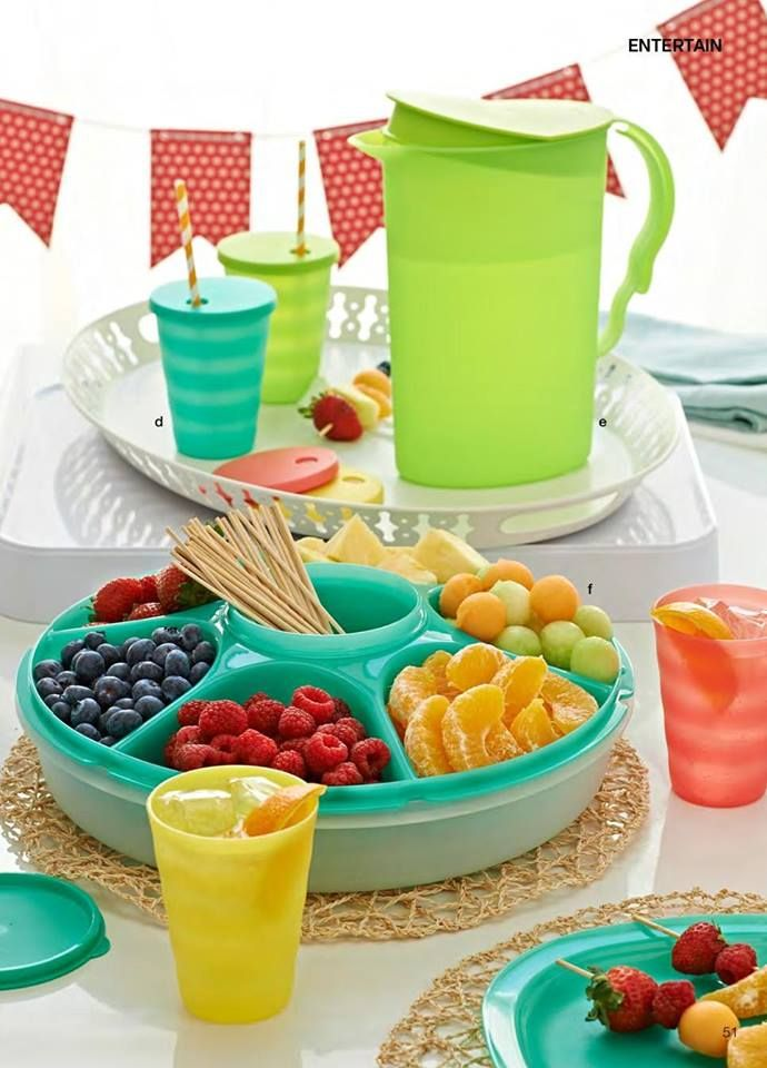 Shown (Pricing and details listed in separate Pin).....Tupperware SERVING CENTER SET is Versatile & has six-2cup compartments & a 14oz removable bowl w/seal, 11oz TUMBLERS & 2qt PITCHER.......Visit my website to see more Tupperware offers via: www.my.tupperware.com/KarinMcClelland You may place an order to be shipped directly to you from my website or if you are in Northwest Arkansas you may contact me via email at: KarinsTupperware@aol.com to place an order