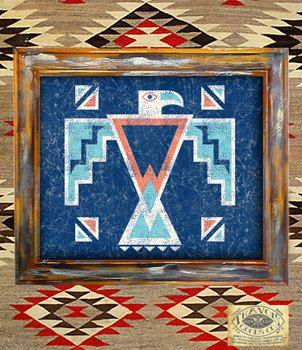Thunderbird-Native American-Indian-Print-Southwest-Navajo-bird-Rustic-Vintage-Americana eagle poster aztec