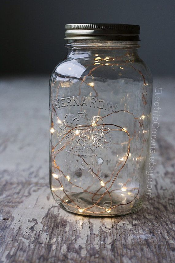 Rustic wedding decor Led string lights starry by ElectricCrowns