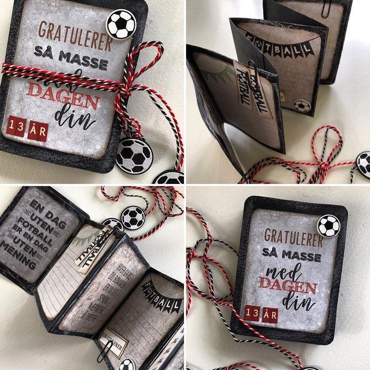 """17 likerklikk, 1 kommentarer – HildeRøisehagen (@hilderoisehagen) på Instagram: """"Fotballkort til en fotballgutt. DTbidrag for @papirdesign #stempelgalkort #papirdesign…"""""""