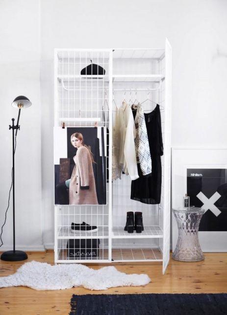 closet aramado branco já montado