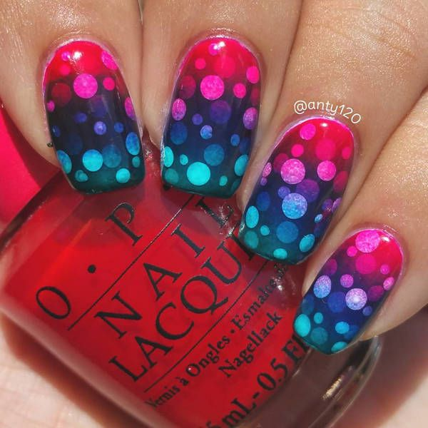 Super cool ombré gradient nail art ideas