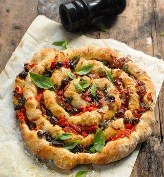 Pizza classique torsadée