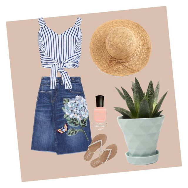 """""""Garden girl"""" by sahaja123 ❤ liked on Polyvore featuring Dolce&Gabbana, WithChic, Chive, M&Co and Deborah Lippmann"""