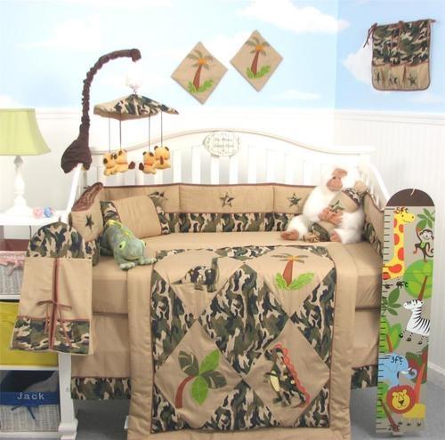 SoHo Camoflage Dinosaur Baby Crib Bedding 13 pcs Set With Diaper Bag. Future baby G?!