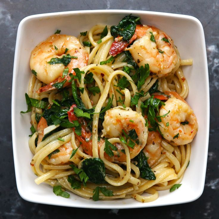 One Pot Lemon Garlic Shrimp Pasta Recipe In 2019 Seafood Garlic Shrimp Pasta Shrimp Pasta
