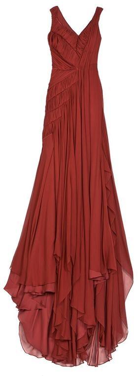 BIBHU MOHAPATRA  Pleated Chiffon Gown