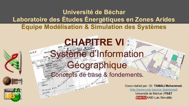 Chap VI : Les SIG, Système d'Information Géographique