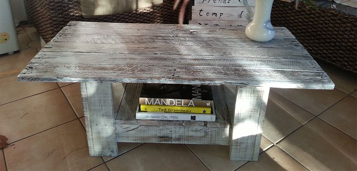 Whitewashed coffee table La Lucie Recycled