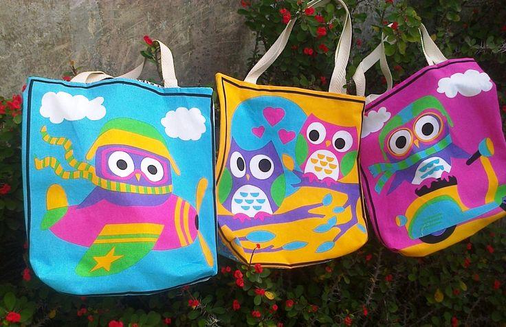 Bolsas livianas y coloridas!