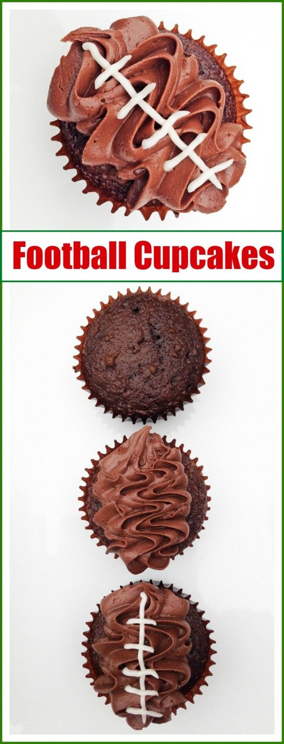This football cupcake recipe from Shauna at Ella and Annie magazine is a delicious dessert for game day!