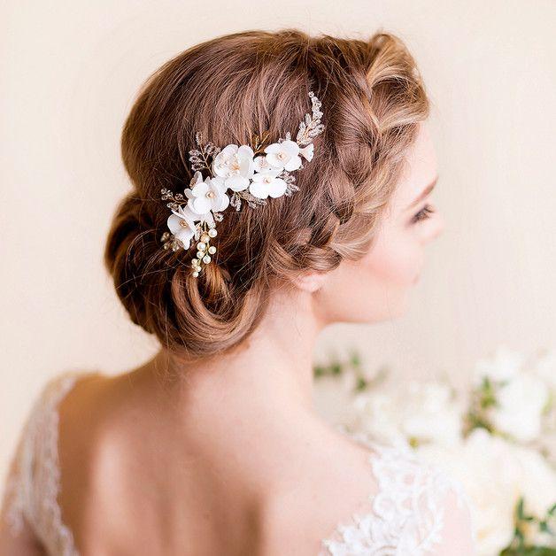 Kawałek Włosów dla nowożeńców Wiśniowy kwiat - Florentes - Akcesoria do włosów