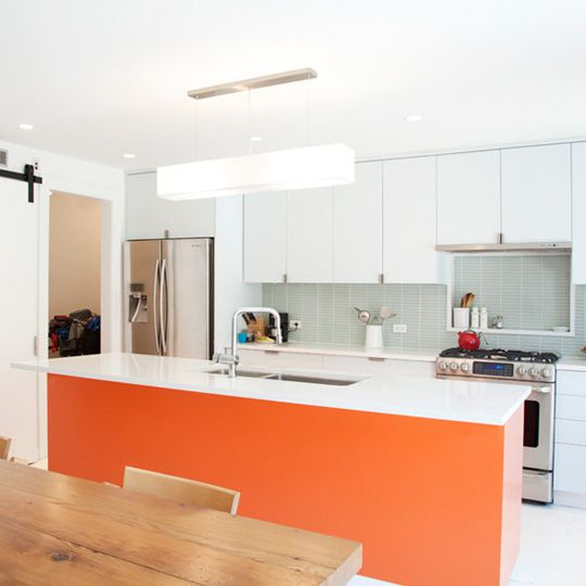 Look! A Tangerine Kitchen Island ? Kitchen Inspiration