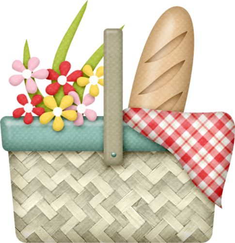 Art Basket Facebook : Best images about basket clipart on picnics