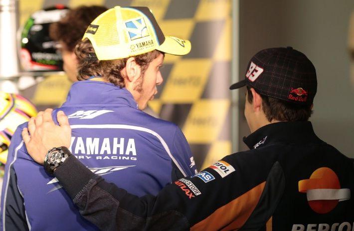 Rossi and Marquez, British MotoGP 2013 - friends .... how beautiful.