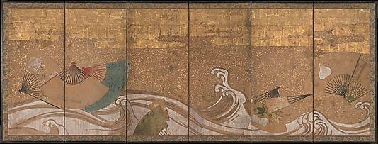 Met (NYC) - Fans Upon Waves - Edo 17th C. - 29.100.499