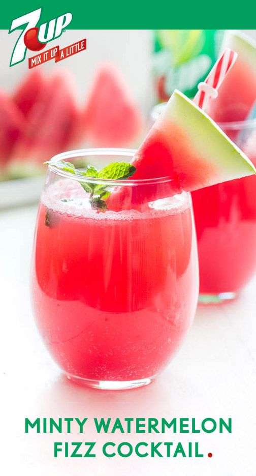 Fun, fruity, and refreshing! What better way to describe this delicious Minty Watermelon Fizz Cocktail recipe? Perfect for celebrating—no matter the occasion—this bubbly punch drink has the color, flavor, and easy prep time you look for when creating a party treat for all your guests. Find 7UP and everything you need for this beverage at Target. Please drink responsibly. Must be 21 or older to consume alcohol.