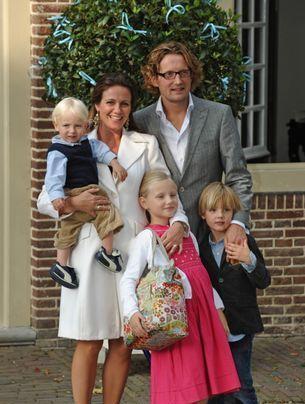 Bernhard, Annette Van Vollenhoven met hun kinderen