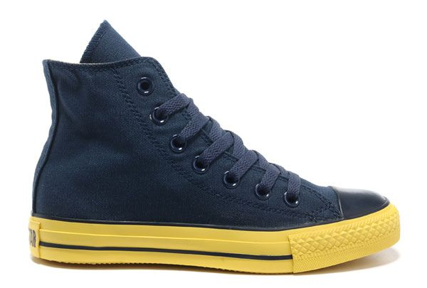 Korea Edition Navy Converse High Tops CT AS Specialty Foxing OX Yellow Sole Canvas Shoes #converse #shoes