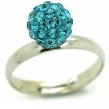 Shamballa gyűrű kék